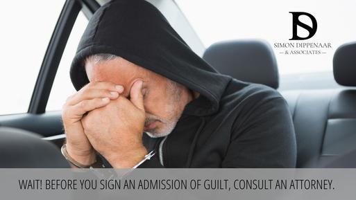 Admission of guilt